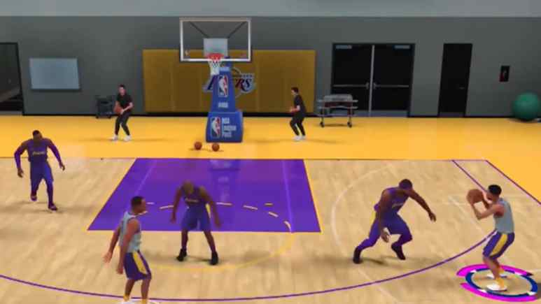 nba 2k20 game myplayer does drills in team practice facility