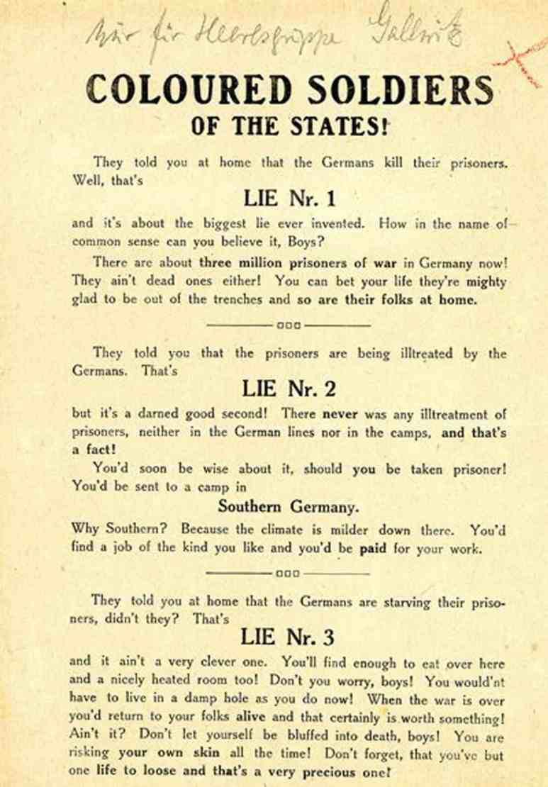 German propaganda leaflet from Watchmen