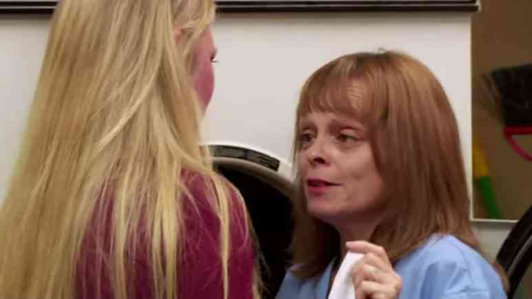 Angela confronts a lady on Love After Lockup.