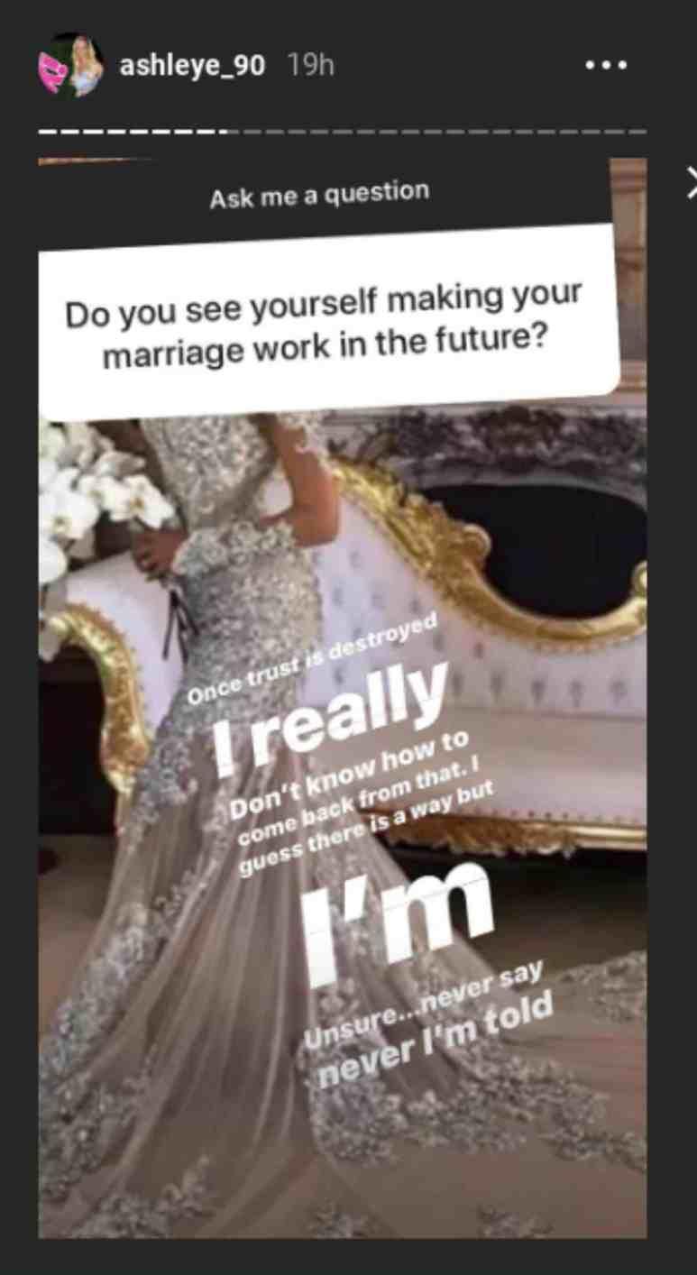 Ashley Martson's recent Instagram Q&A