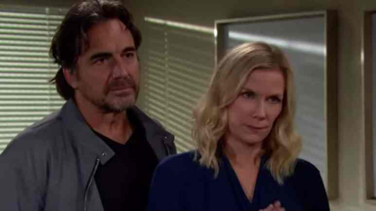 Thorsten Kaye and Katherine Kelly Lang as Ridge and Brooke on The Bold and the Beautiful.