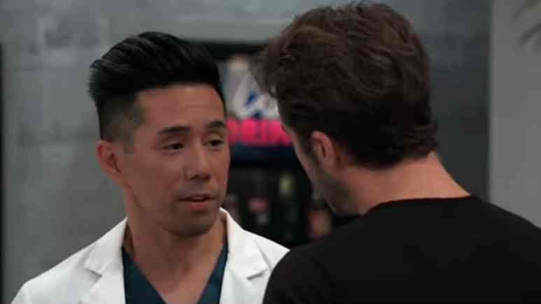 Parry Shen and Ryan Carnes as Brad and Lucas on General Hospital