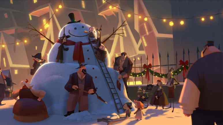 Everyone gets into the Christmas spirit. Pic credit: Netflix