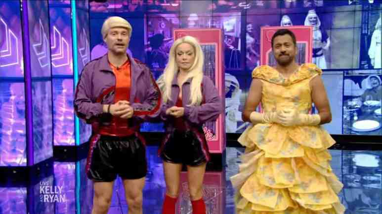 ryan seacrest and kelly ripa on their oct 31 halloween episode