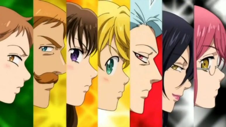 The Seven Deadly Sins character art