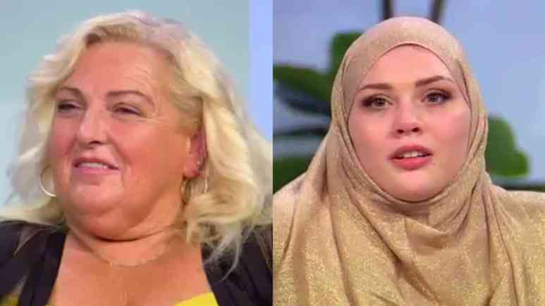 Angela Deem and Avery Mills at the 90 Day Fiance: Before the 90 Days Tell All
