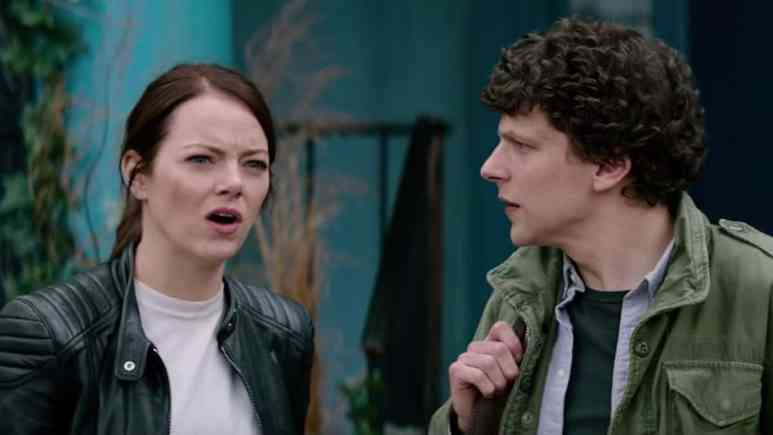 emma stone and jesse eisenberg in zombieland 2 double tap