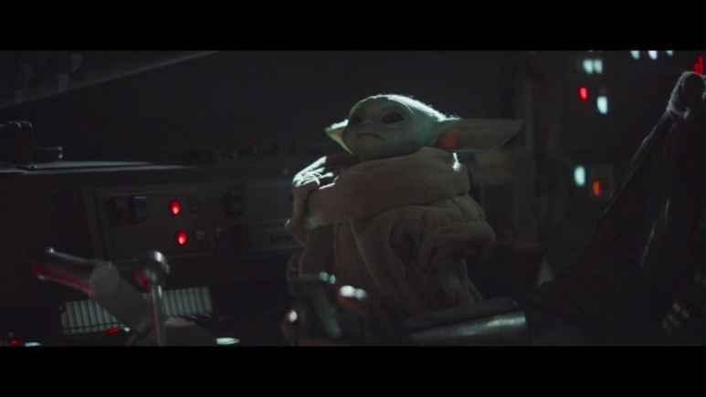 Baby Yoda fidgets with ship on The Mandalorian
