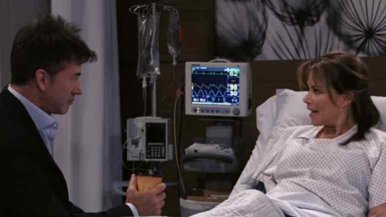 Joe Flanigan and Nancy Lee Grahn as Neil and Alexis on General Hospital.
