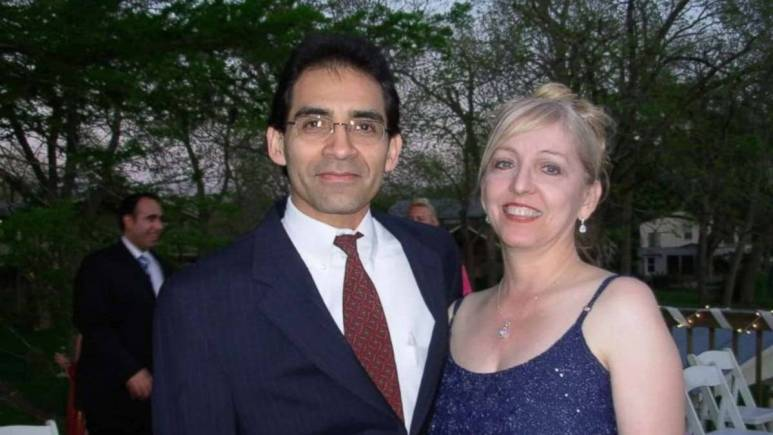 Sandra and Jim Melgar posing in happier times