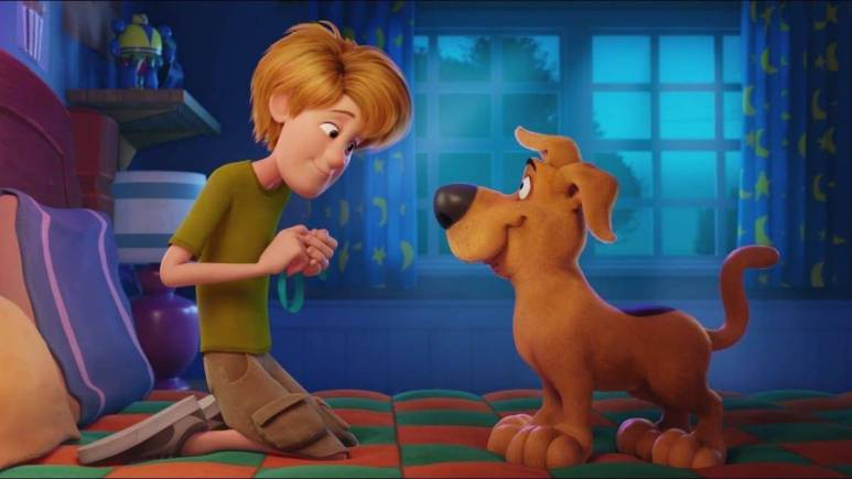 Young Shaggy and Scooby-Doo meet for the first time