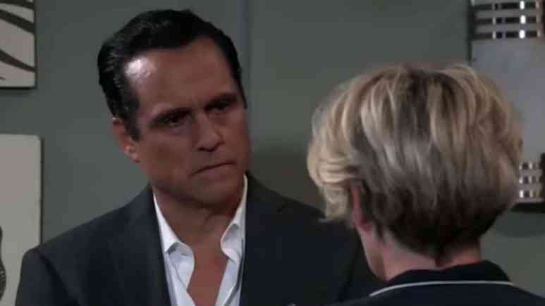 Maurice Benard and Maura West as Sonny and Ava on General Hospital.