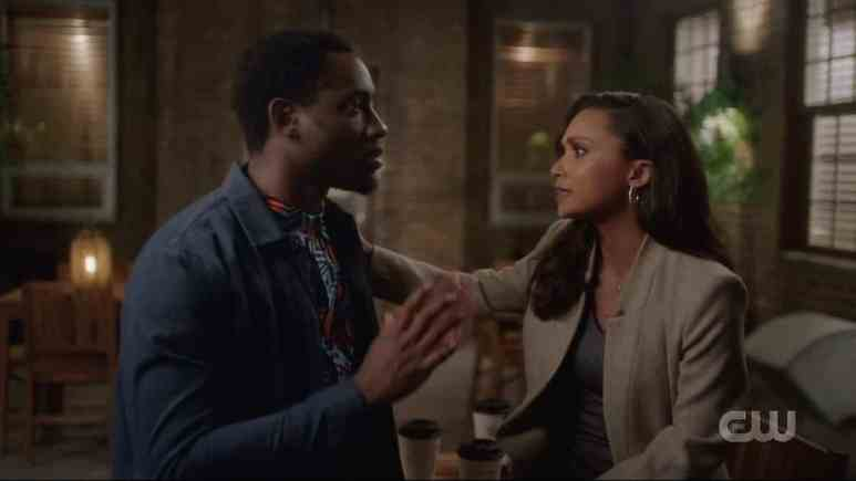 Cecile and Chester have a heart to heart. Pic credit: The CW