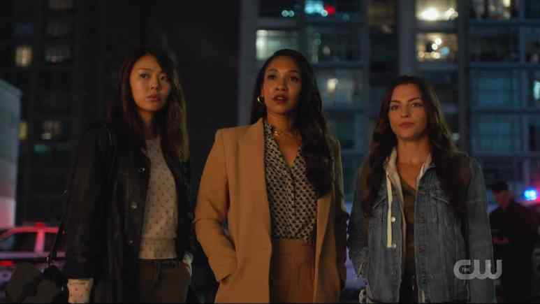 Victoria Park, Candice Patton, and Kayla Compton of the Central City Citizen on The Flash season 6. Pic credit: The CW.