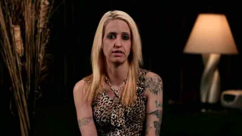 Tracie during a Love After Lockup confessional.