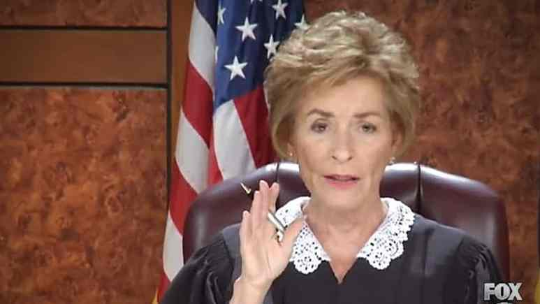 Judge Judy adjudicating a case