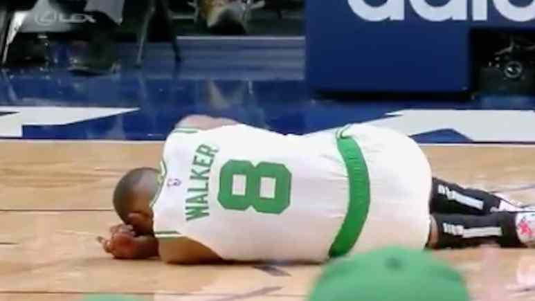 celtics star kemba walker injured in nuggets game