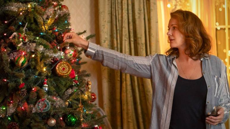 Perkins shared her love for Christmas and her curating of her own ornaments in a special bowl which had Leary rolling his eyes. Pic credit: FOX.