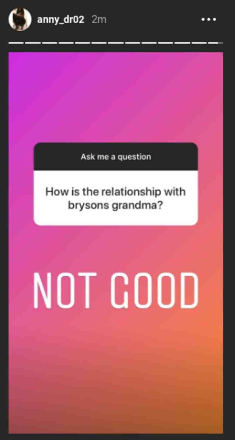 """Anny says her relationship with Bryson's grandma is """"not good'"""