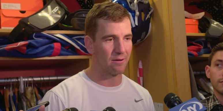 Eli Manning returning to starting lineup for New York Giants: Eli talks future in NFL