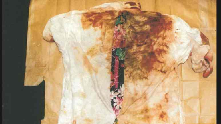 A bloodied shirt