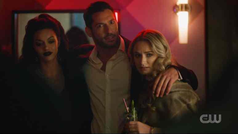 Tom Ellis makes a devilish cameo as Lucifer Morningstar. Pic credit: The CW