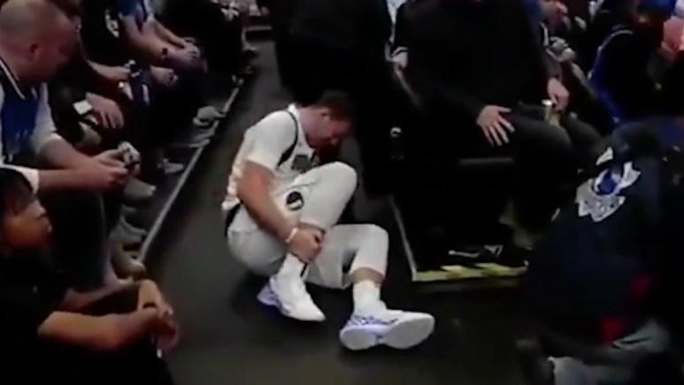 luka doncic injured during mavs vs heat game 2019
