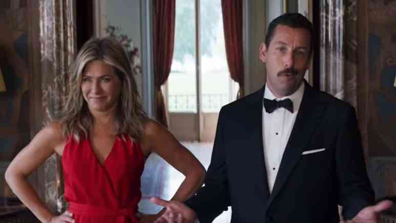 jennifer aniston and adam sandler in murder mystery on netflix