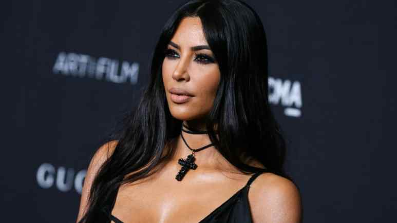 For Instagram, Kim Kardashian dons her own makeup line to promote her KKW beauty brand.