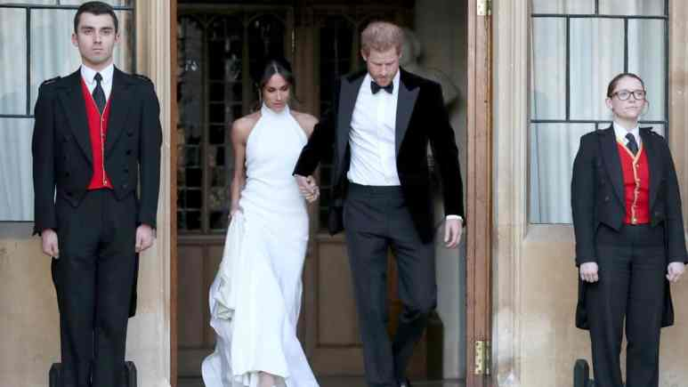 Meghan Markle and Prince Harry step back from royal family to become financially independent, sparking rumors of a Duchess designer fashion line.