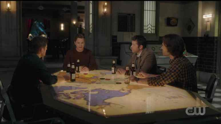 Jack catches up with Sam, Dean, and Castiel in The Gamblers. Pic credit: The CW