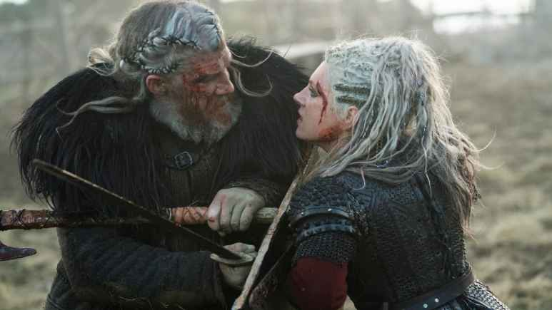 Keiran O'Reilly as White Hair and Katheryn Winnick as Lagertha