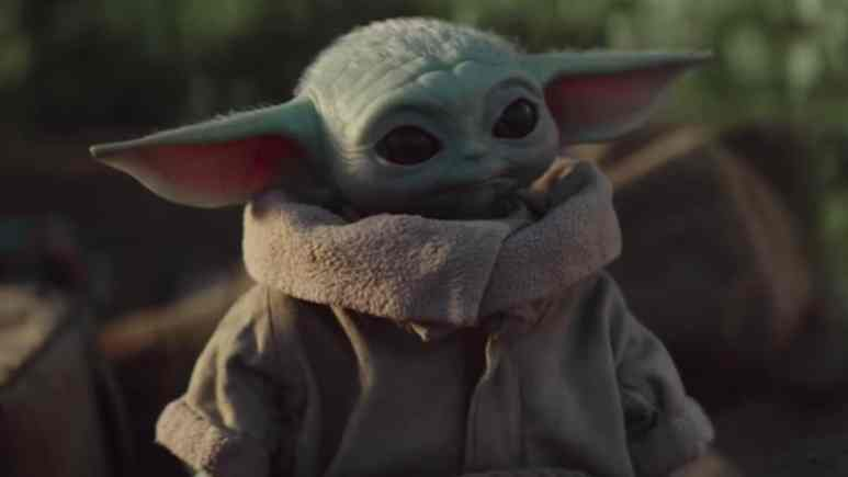 baby yoda appears on the mandalorian on disney plus