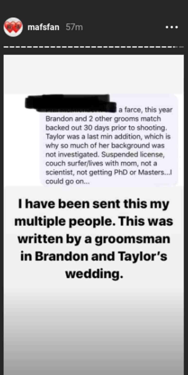 Groomsman's wedding info
