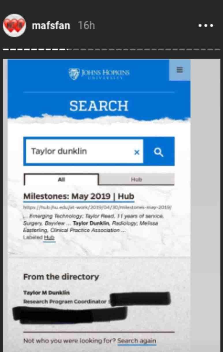 John Hopkins website