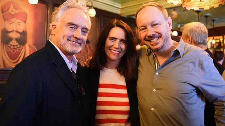 GALECA's 2017 Winners Toast - Bradley Whitford, Amy Landecker and ED John Griffiths. Pic credit: GALECA.