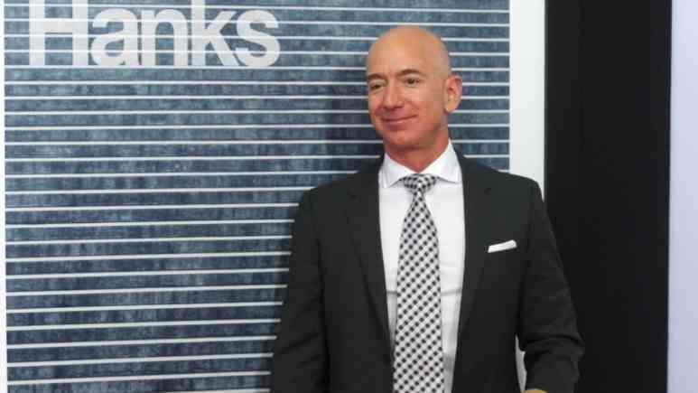 Jeff Bezos on the red carpet