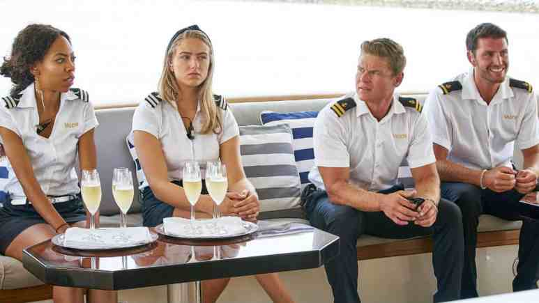 Below Deck cast outfits and drinks at the reunion.