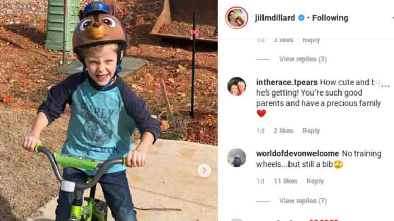 Jill Duggar's Instagram comments.