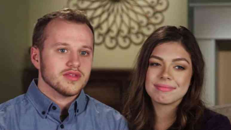 Josiah Duggar and Lauren Swanson during a Counting On confessional.