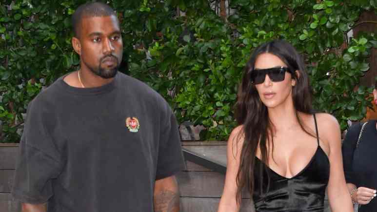 Kim Kardashian shows Instagram her skin-tight styles as Kanye West enjoys KFC.