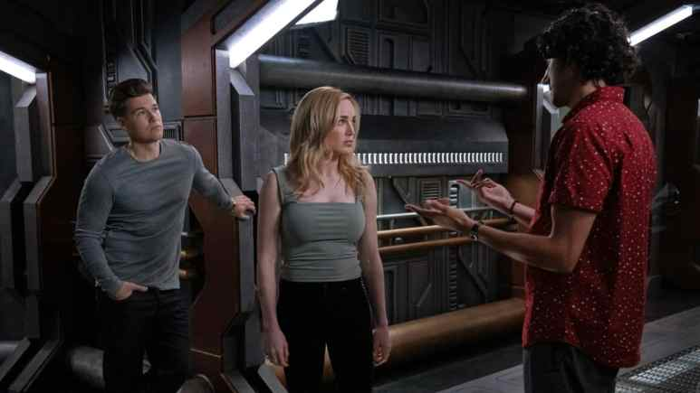 Nick Zano as Nate Heywood/Steel, Caity Lotz as Sara Lance/White Canary and Shayan Sobhian as Behrad Taraz.