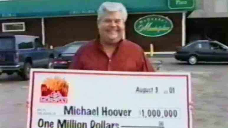 Michael Hoover, a McDonalds Monopoly 'winner