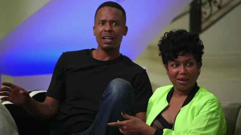Michel'e and her boyfriend Stew on Marriage Boot Camp Hip Hop Edition