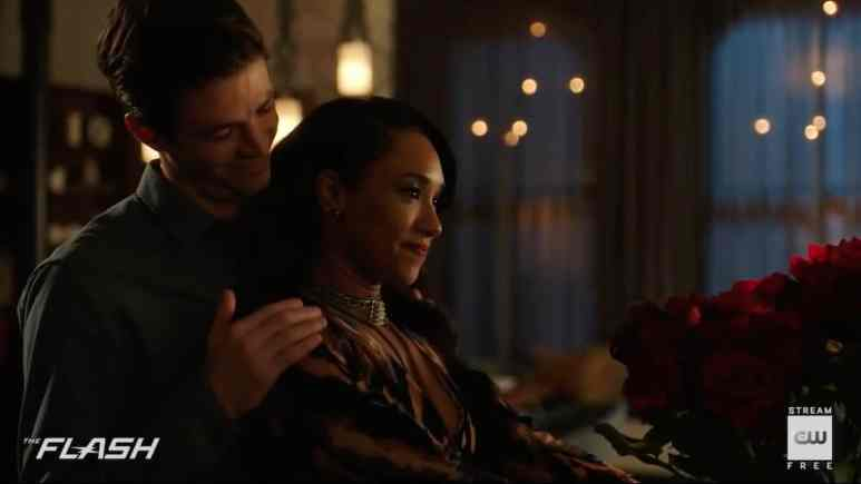 Barry and Iris share a tender moment on The Flash. Pic credit: The CW