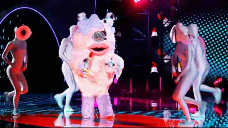 Miss Monster hints at a connection to a queen on The Masked Singer. Pic credit: FOX