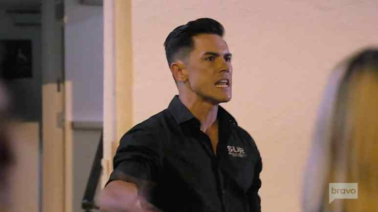 Tom Sandoval yells at Katie Malone outside of Sur.