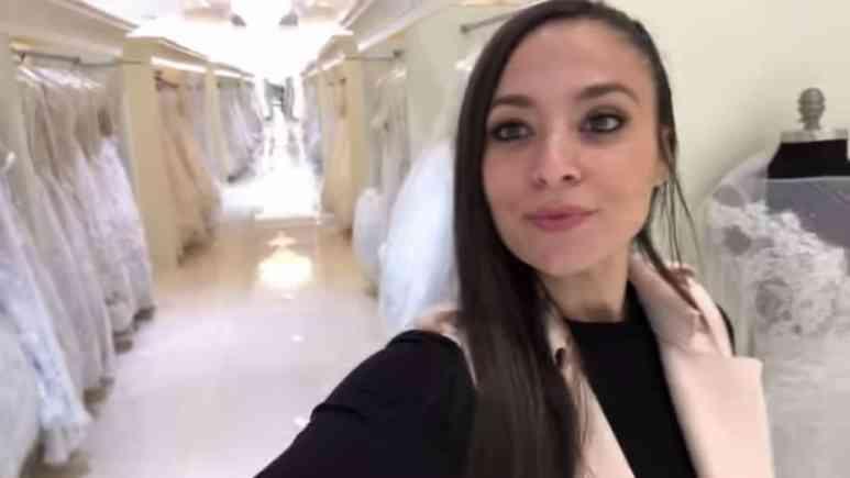 Sammi Giancola choosing a wedding dress