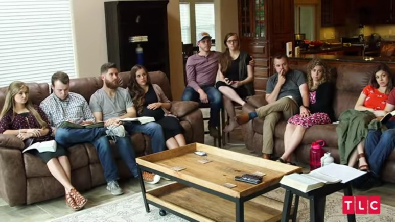Duggar couples during a Counting On episode.