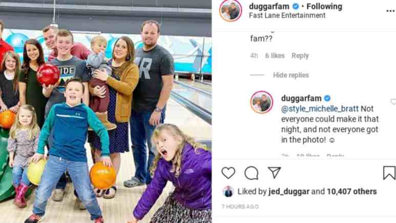 Duggar family outing photo.